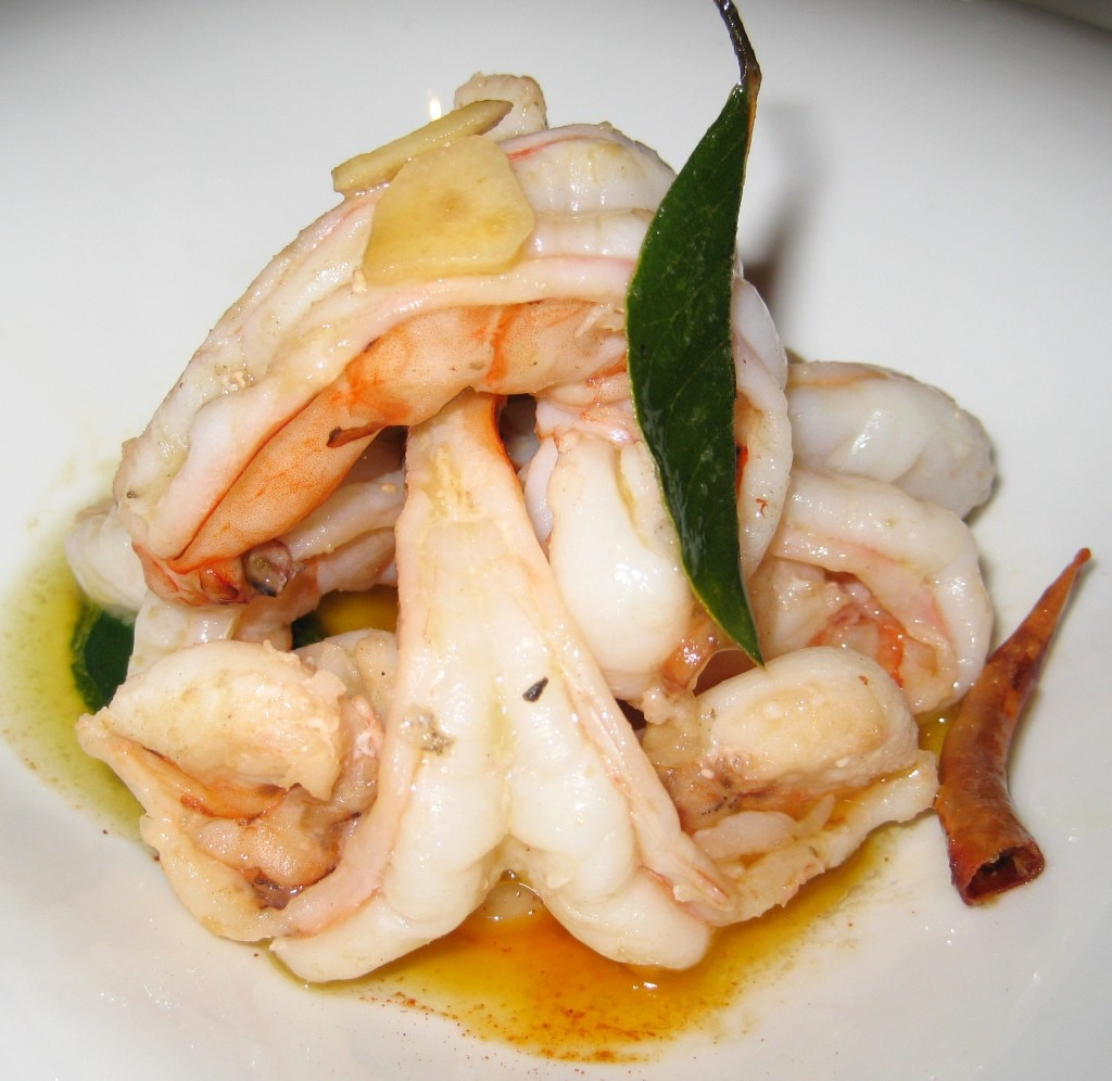 Sautéed shrimp, garlic, guindilla pepper