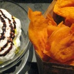 Sweet potato chips, yogurt, tamarind, star anise