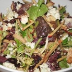 Apple salad with blue cheese and candied walnuts