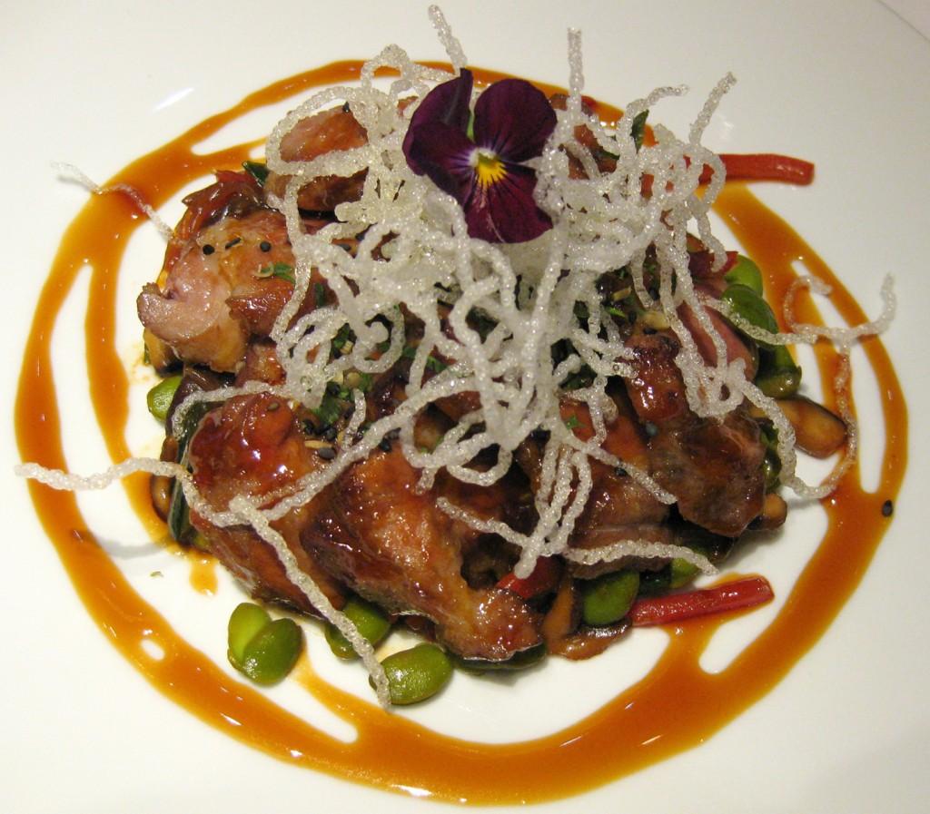 Iberian pork shoulder glazed with soy