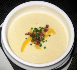 Loaded potato soup, cheddar, bacon
