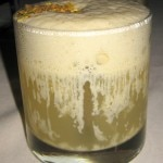 Road to Tunisia: Grey Goose Le Poire with pistachio foam
