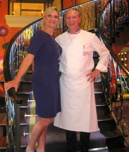 Chef Eric Frechon with Sophie Gayot