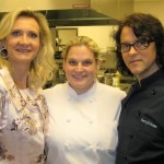 Sophie Gayot, chef Kerry Simon with Nona Sivley