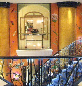 A view of the entrance from Le Bristol hotel