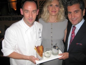 Executive chef Ashley James, Sophie Gayot, Hotel General Manager Mehdi Eftekari