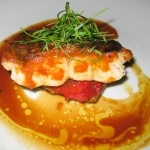 Black cod with caramelized fennel and concentrated tomatoes