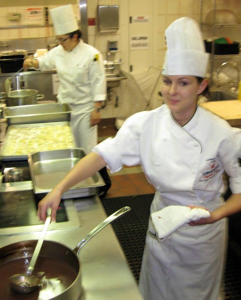 Elizabeth Freer in the kitchen