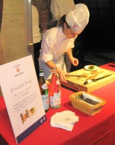 Winner Elizabeth Freer presenting her dish