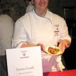 Winner Emma Louth presenting her dish