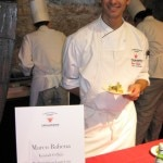 Winner Marco Bahena presenting his signature dish