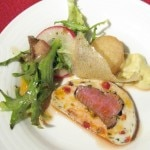 Marco Bahena's signature dish: Mediterranean lamb loin