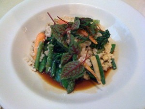 Israeli couscous at Silks restaurant in San Francisco, CA