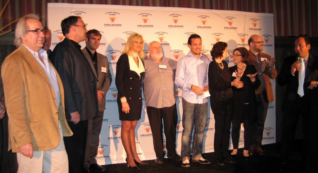 From left to right: Jean Joho, Brooke McDougall, Sophie Gayot, Michel Richard, Fabio Viviani, Dana Cowin, Bonnie Ster, Ralph Pagano