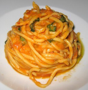 Tomato/basil spaghetti