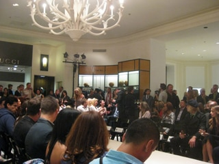 "The runway at Angeleno magazine's ""Men of Style"" event"