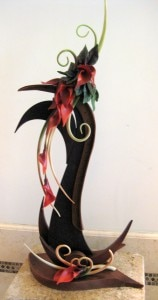 A chocolate sculpture