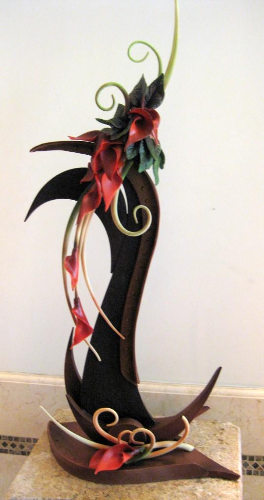 A chocolate sculpture