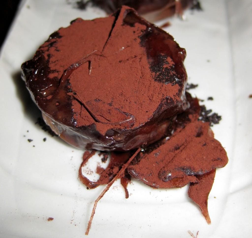 Honey and chocolate lozenge