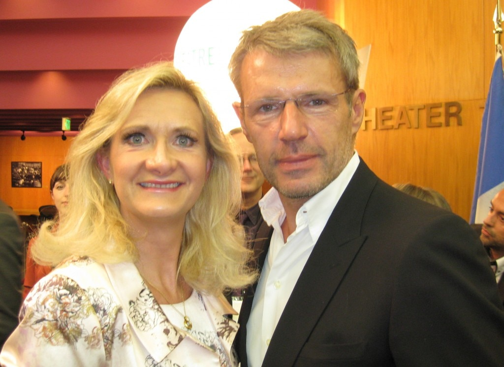 Actor Lambert Wilson with Sophie Gayot