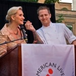 Chef Michael Voltaggio with Sophie Gayot