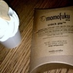 Soft serve ice cream and Crack Pie at Momofuku Bakery & Milk Bar in the East Village