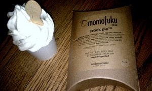 momofuku Soft serve ice cream and Crack Pie at Momofuku Bakery & Milk Bar in the East Village