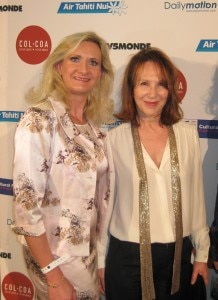 Actress Nathalie Baye with Sophie Gayot