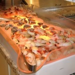The shellfish station at Scarpetta's brunch buffet