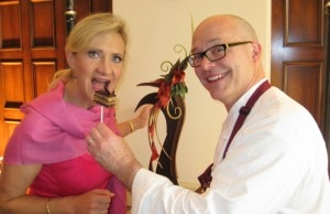 Executive pastry chef Richard Ruskell with Sophie Gayot
