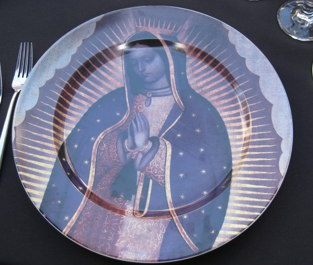 An ornately decorated plate from Rivera restaurant