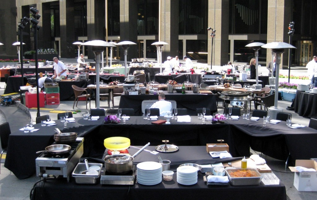 Tables at the 4th annual Flavors of Los Angeles Culinary Gala