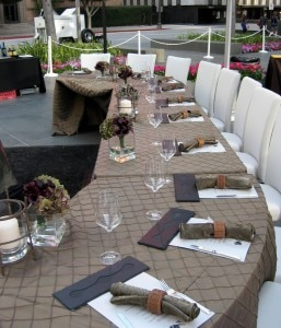 Tables at the 4th annual Flavors Gala sat ten guests