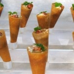 The Bazaar cones: liver, membrillo, Marcona almonds