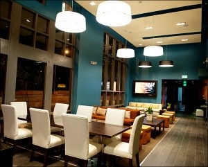 While the bar only seats six, there is plenty of lounge-style seating at Bar BLVD