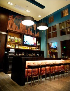 Guests can choose from a menu of themed craft cocktails at Bar BLVD