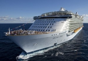 Allure of the Seas, Royal Caribbean's largest cruise ship, is featured in two new films