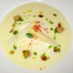 L'Asperge Blanche: White asparagus in gazpacho