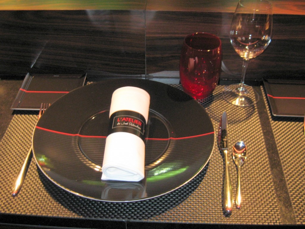 A place setting at L'Atelier de Joël Robuchon
