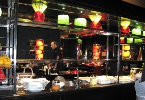 A view of the kitchen at L'Atelier de Joël Robuchon