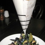 Moules marinières: mussels, white wine, shallots and French fries