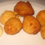 Salted cod croquettes with rouille