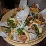 Bánh mì: pork belly and ears with kumquats, pistachios and lardons by Palate Food + Wine in Glendale, CA