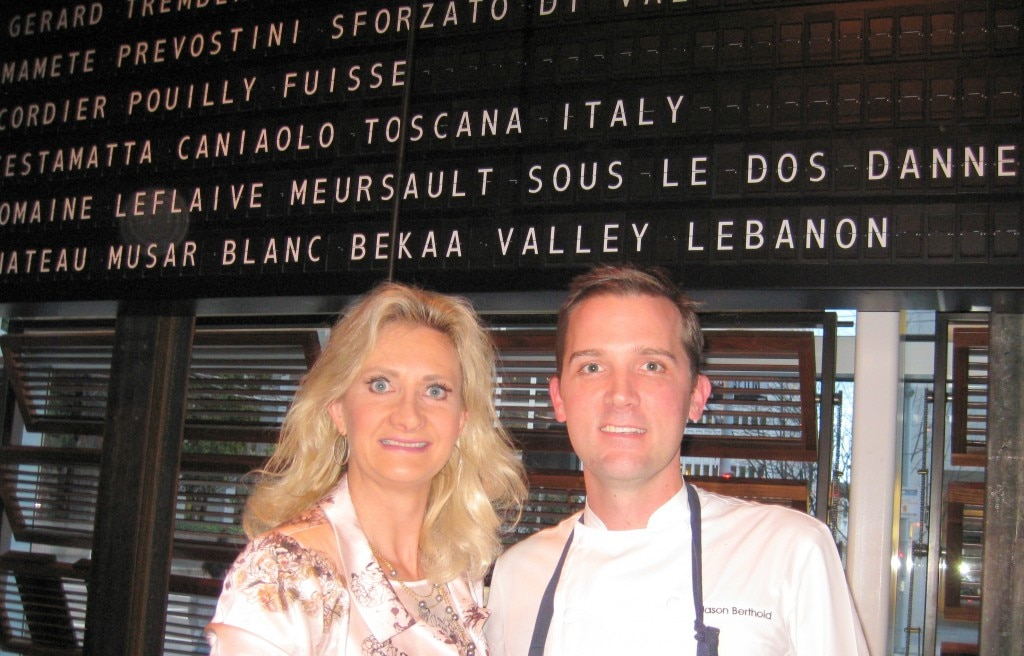 RN74 executive chef Jason Berthold with Sophie Gayot