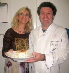 Chef Jean-Francois Meteigner with Sophie Gayot