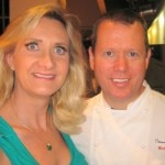 Consulting chef Walter Manzke with Sophie Gayot