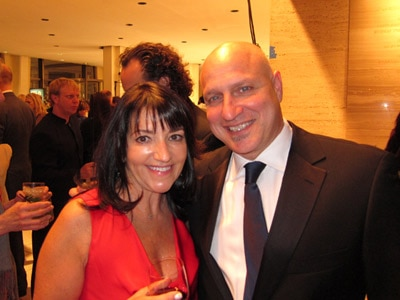 Host Tom Colicchio with GAYOT.com's own Meryl Pearlstein