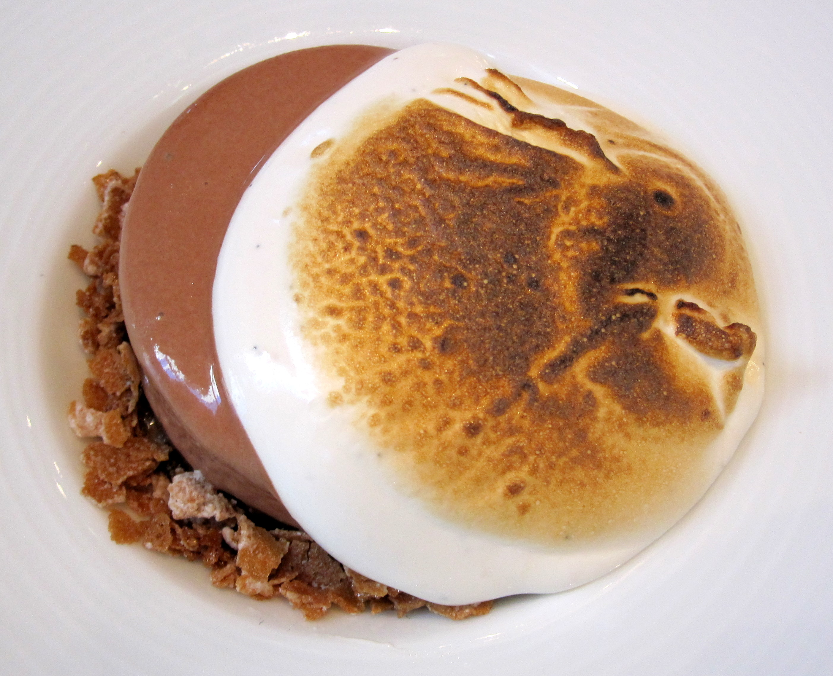 ... chocolate marquise with hazelnut, marshmallow and chocolate sorbet