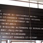 RN74's wine list showcases an international selection