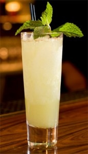 A Chartreuse Swizzle, one of our Top 10 Cocktails